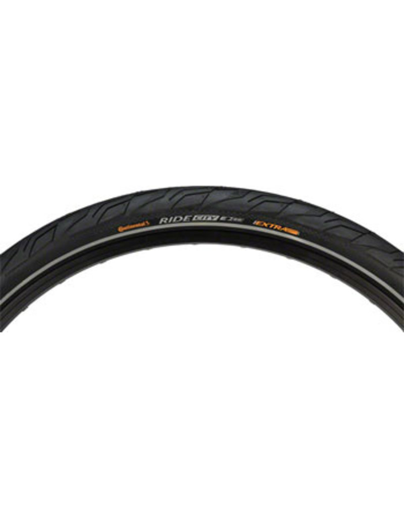 Continental Continental Ride City Tire - 700 x 37, Clincher, Wire, Black, Ebike