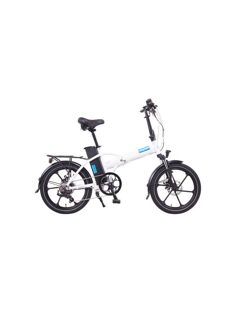 Magnum Bikes Magnum Premium White Low Step Folder (Mag Wheels)