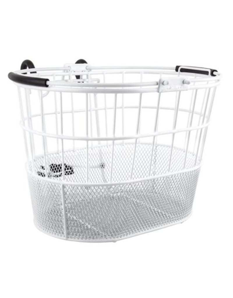 Sunlite Sunlite Front Wire/Mesh Oval White Basket with Lift-off Bracket