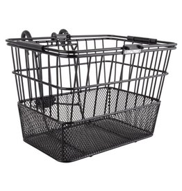 Sunlite Sunlite Front Wire Mesh Basket w/Brack Black
