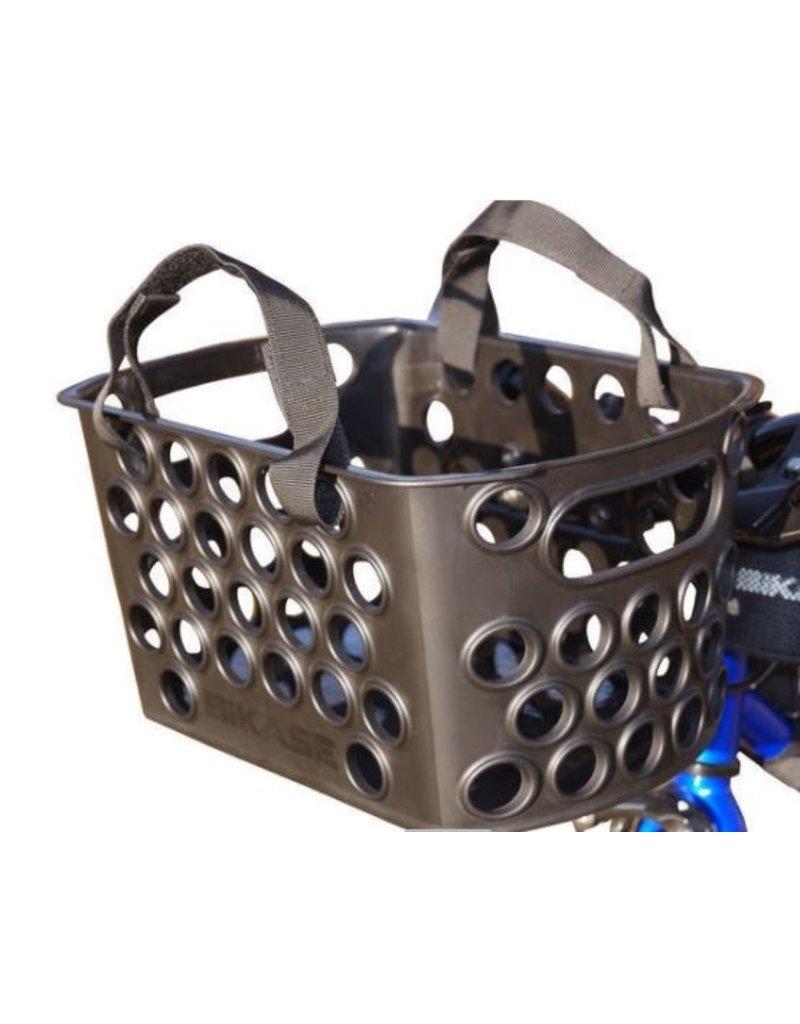 Bikase Bikase Front Bessie Basket Q/R w/Velcro Handle Straps Black