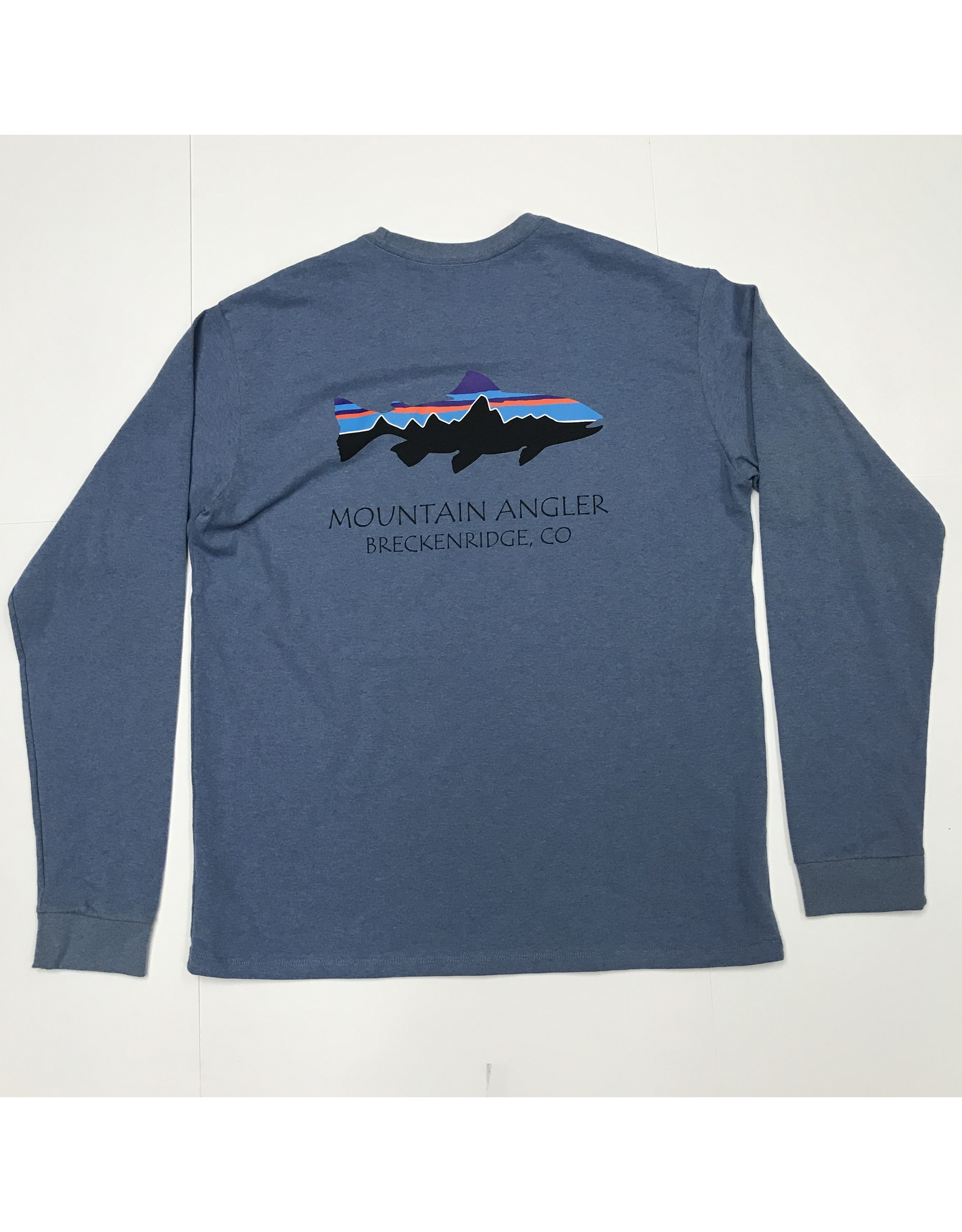 Patagonia Patagonia - Men's L/S Fitz Roy Trout MT ANGLER LOGO Responsibili-Tee