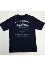 Patagonia Patagonia - M's Framed Fitz Roy Trout Organic MT ANGLER LOGO T-Shirt
