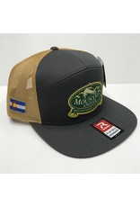 Richardson Richardson - 7 Panel Twill Trucker Cap - MOUNTAIN ANGLER LOGO