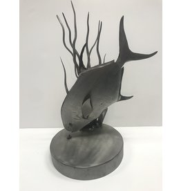 Mountain Angler Metal Permit Sculpture