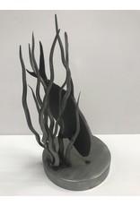 Mountain Angler Dave Carrol Artwork - Metal Permit Sculpture