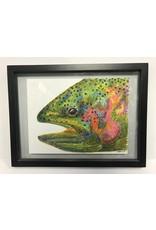 Mountain Anlger Jane Hamlin - Rainbow Trout Painting