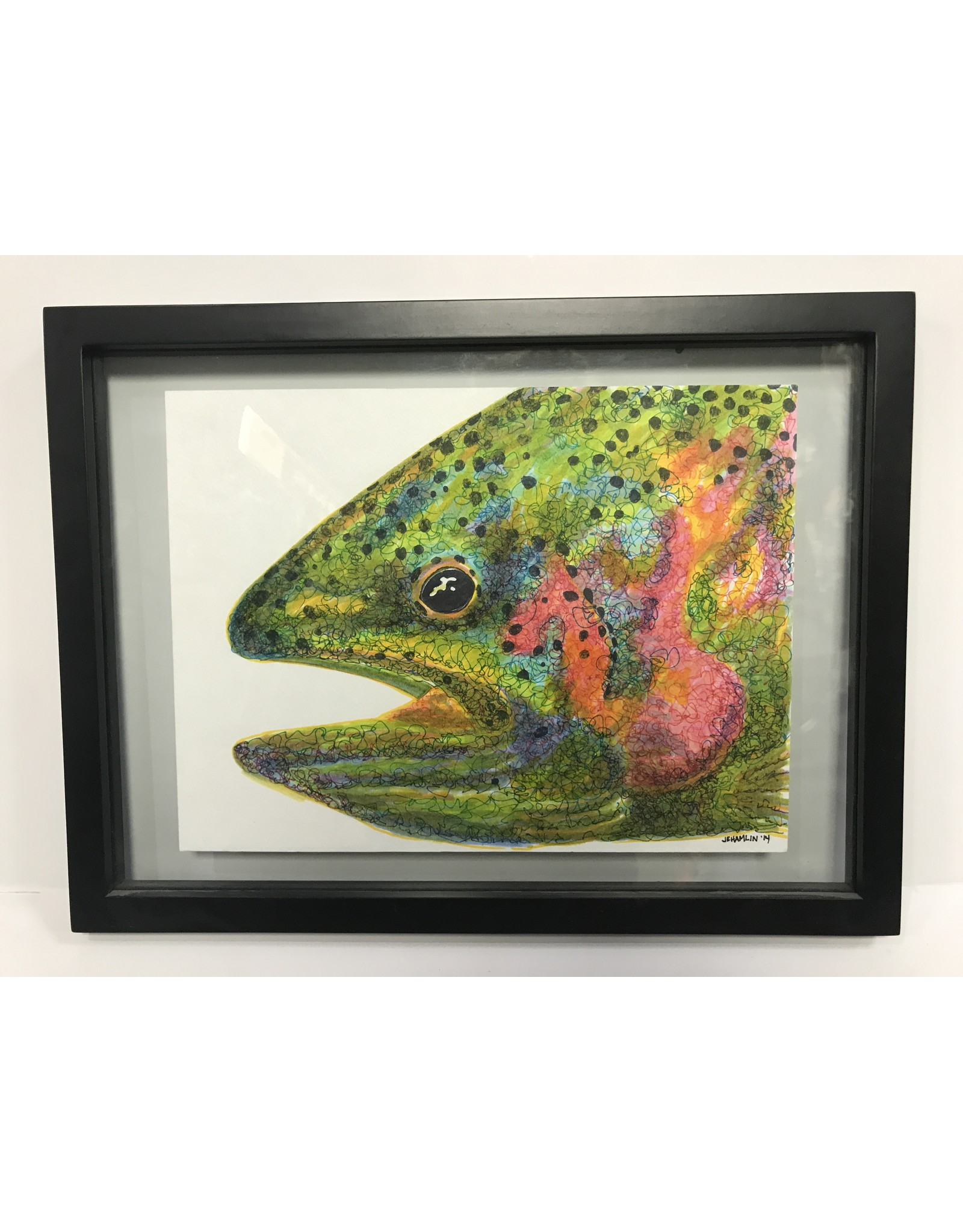 Jane Hamlin - Rainbow Trout Painting