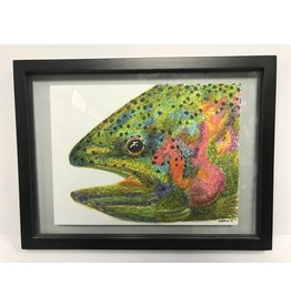 Mountain Anlger Rainbow Trout Painting