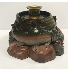 Trout Candlestick Holder