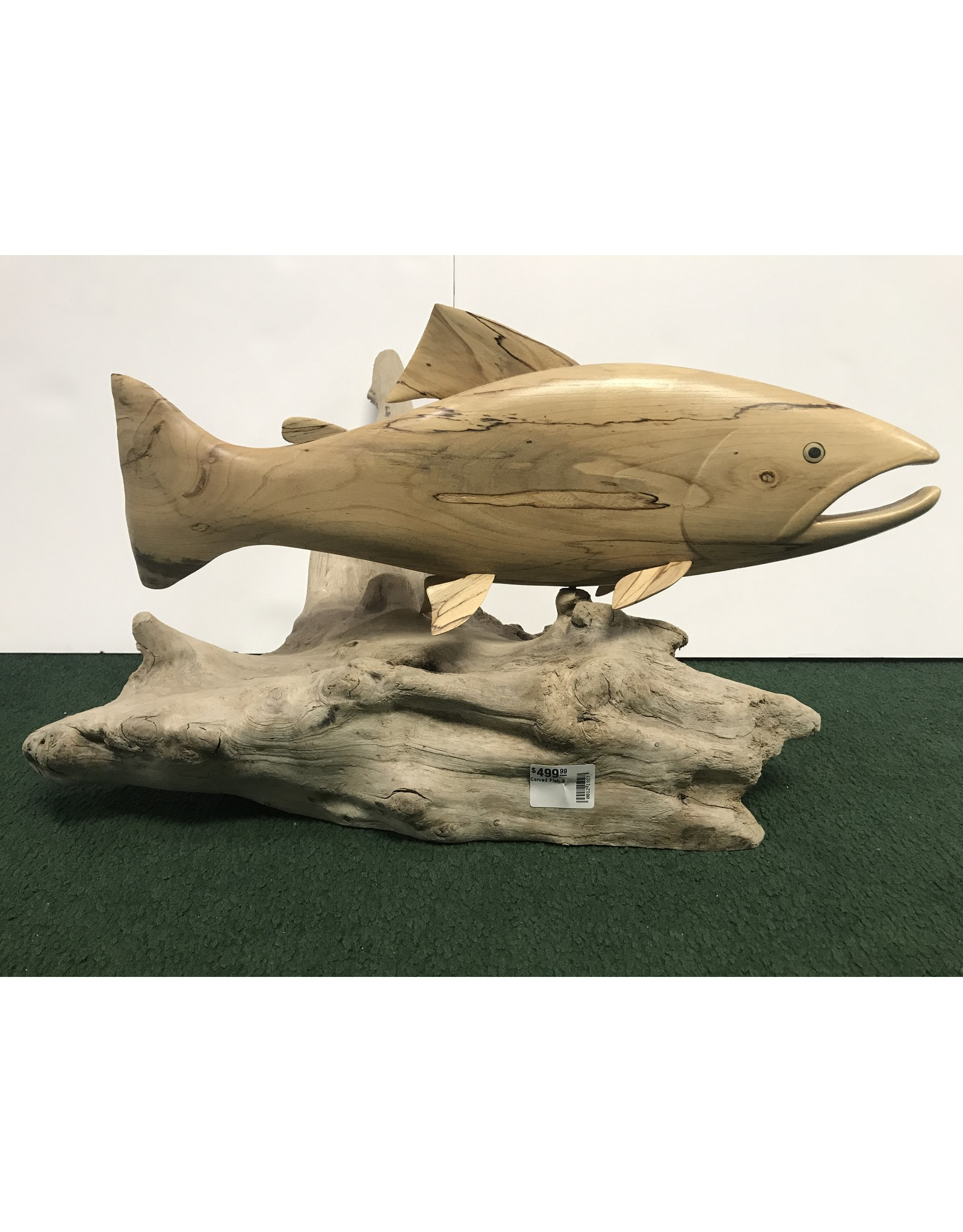 Mountain Anlger Carved Trout - Large