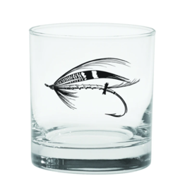 Rep Your Water Salmon Fly Old Fashioned Glass