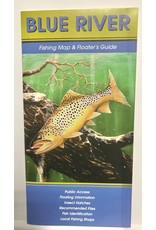 Shook Book Publishing The Fly Fish Guide Company - Blue River Map