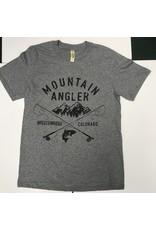 Ouray Mountain Angler LOGO - Vintage Sheer Short-Sleeved Tee