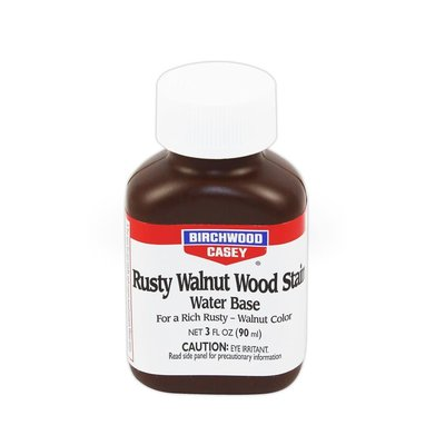 Birchwood Casey Rusty Walnut Wood Stain 3oz MFG# 24323 UPC# 00001298