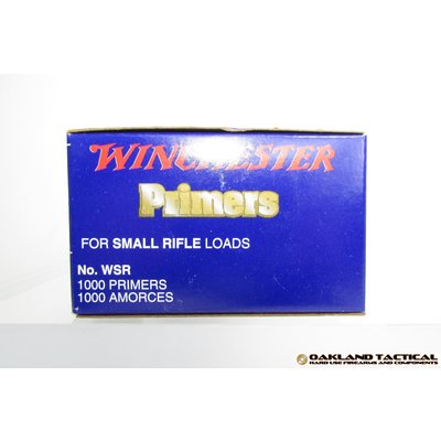 Winchester Primers WSR Small Rifle Loads 1000 Primers UPC Code # 020892300040