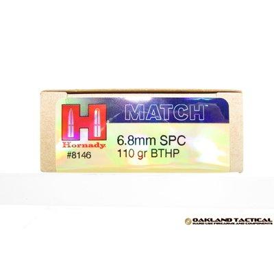 Hornady Hornady 6.8mm SPC 110 Grain BTHP with Cannelure MFG # 8146 UPC Code # 090255381467