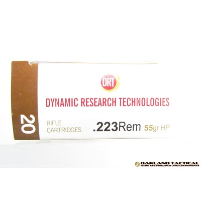 Dynamic Research Technologies .223 Remington 55 Grain HP Terminal Shock 20 Rifle Cartridges MFG # 12235520 UPC Code # 897409001260