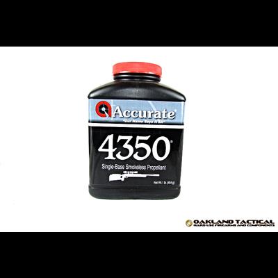 Accurate 4350 Single-Base Smokeless Propellant 1 lbs UPC Code # 094794004016