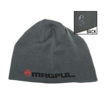 Magpul Industries Magpul Logotext Skull Beanie Stealth Gray of Gray MFG # MAG900 UPC # 873750011790