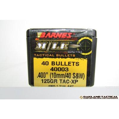 "B5 Systems Barnes M/LE Tac-XP Pistol Bullets .400"" 10mm/40S&W 125 Grain 40 Bullets MFG # 40003 UPC Code # 716876400034"