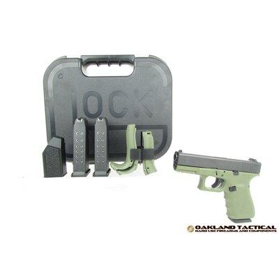 Glock Glock G19 Gen4 Green Frame 9x19mm MFG # PG1950203BFG UPC Code # 764503913686