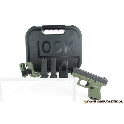 "Glock Glock G26 Gen4 Green Frame 3.46"" Barrel 9x19mm MFG # PG2650201BFG UPC # 764503913716"