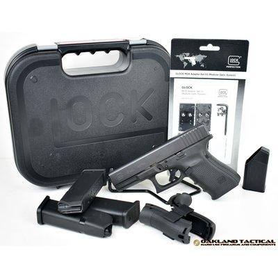 """Glock GLOCK G19 Gen4 MOS 4.01"""" Barrel 9x19mm MFG# PG1950203MOS UPC# 764503913495"""