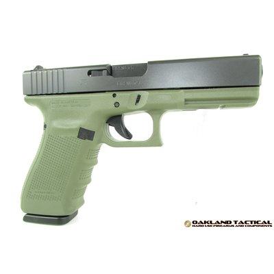 "Glock Glock G21 Gen4 Green Frame 4.60"" Barrel .45 ACP MFG # PG2150203BFG UPC # 764503914003"