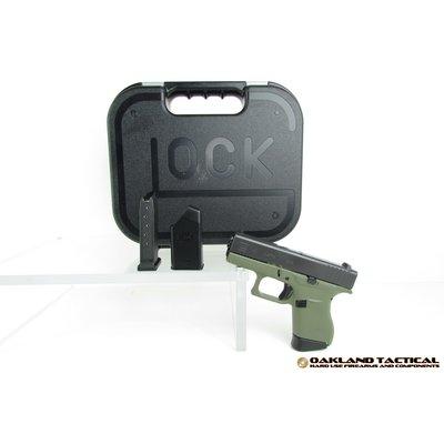 """Glock Glock G43 Green Frame 3.39"""" Barrel 9x19mm MFG # PI4350201BFG UPC # 764503913990"""