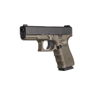 Glock GLOCK 19 GEN4 9MM 15RD 3 MAGS OD MFG# PG1957203 UPC# 764503015588