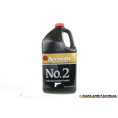 Accurate No.2 Double-Base Smokeless Propellant 5 lbs UPC Code # 094794001084
