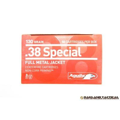 Aguila .38 Special FMJ (Full Metal Jacket) 130 Grain 50 Cartridges MFG # 1E382521 UPC Code # 640420003146