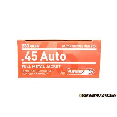 Aguila .45 Auto 230 Grain FMJ (Full Metal Jacket) 50 Cartridges MFG # 1E452110 UPC Code # 640420003078