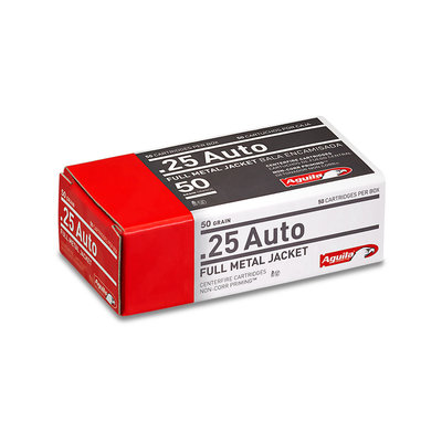 Aguila Ammunition .25 Auto FMJ (Full Metal Jacket) 50-Round MFG # 1E252110 UPC # 640420003016