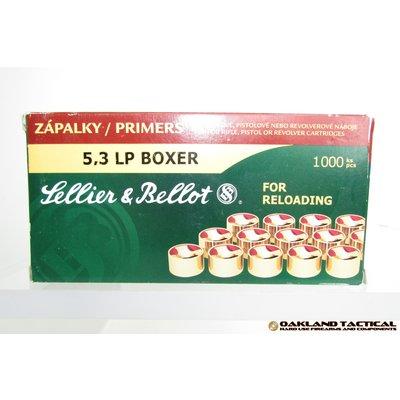 Sellier & Bellot 5,3 LP Boxer for Reloading 1000 Primers UPC Code # 754908523542