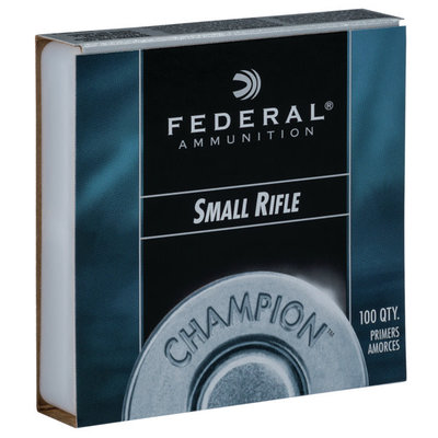 FEDERAL SMALL RIFLE PRIMER MFG# 205 UPC# 029465056285