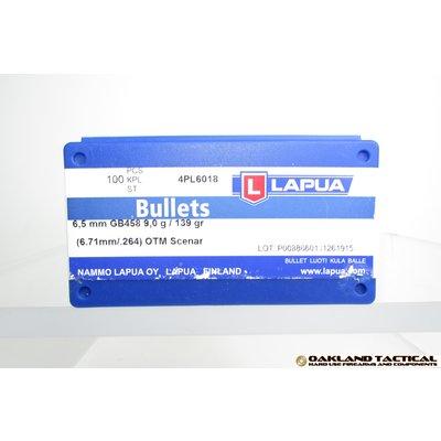 Lapua Lapua Bullets 6.5mm OTM Scenar 100 Count MFG # 4PL6018 UPC Code # 6418267300223