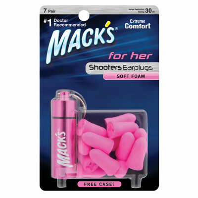 Mack's For Her Soft Foam Earplugs - 7 pair with Free Travel Case MFG#: 4793 UPC: 033732047937