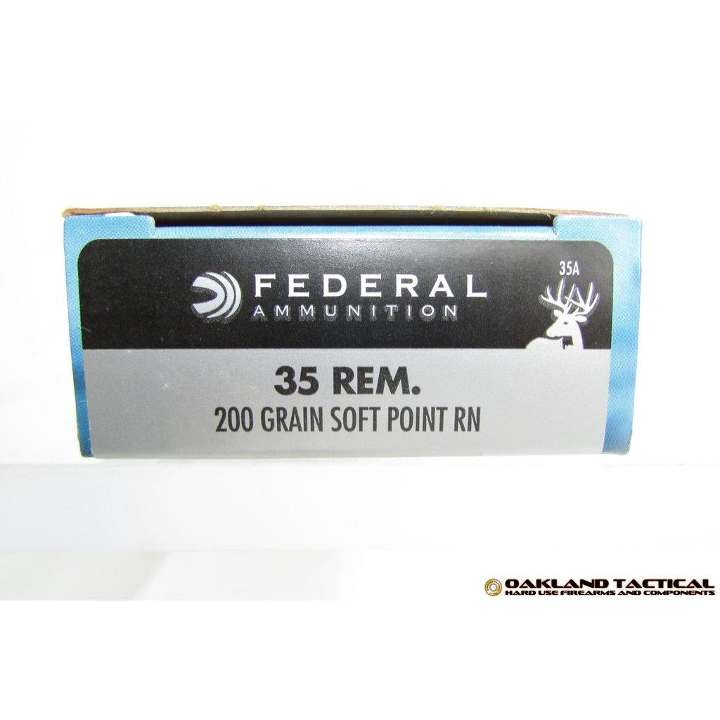 Federal Federal Premium Power-Shok .35 Remington 200 Grain Soft Point RN 20 Centerfire Rifle Cartridges MFG # 35A UPC Code # 029465084899