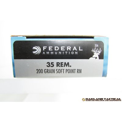 Federal Federal Premium Power-Shok .35 Remington 200 Grain Soft Point RN 20 Centerfire Rifle Cartridges MFG # 35A UPC Code # 029465084899