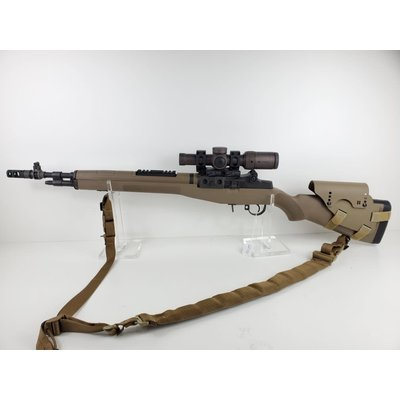 Springfield (Pre-Owned) Springfield Armory M1A Scout Model FDE With Vortex Razor 1-6x24 Scope