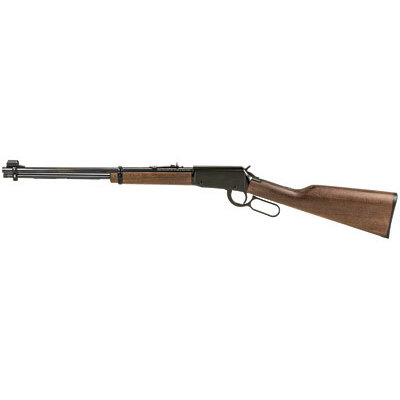 "(Pre-owned) Unfired Henry Repeating Arms, Lever Action, 22LR, 18.25"" Barrel, Blue Finish, Walnut Stock, Adjustable Sights, 15Rd"