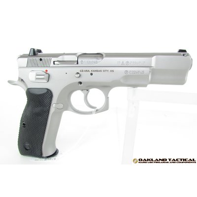 "CZ-USA CZ-USA CZ 75B Matte Stainless 4.6"" Barrel 9x19mm MFG # 91128 UPC # 806703911281"