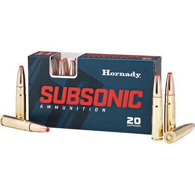 Hornady HRNDY 300BLK 190GR SUB-X 20/200 MFG# 80877 UPC# 090255808773