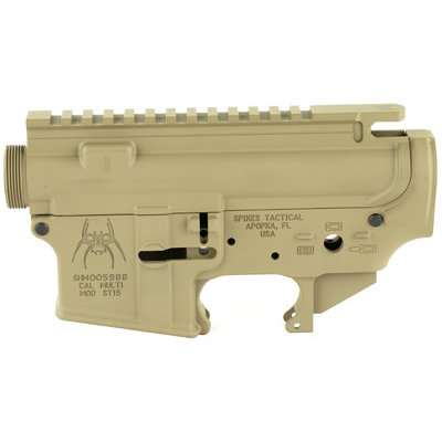 Spike's Tactical Spike's Tactical, Upper/Lower Receiver Set, Semi-automatic, 223 Rem/556NATO, Flat Dark Earth Finish, Mil-spec