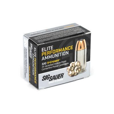 Sig Sauer SIG AMMO 9MM 115GR JHP 20/200 MFG# E9MMA1-20 UPC# 798681501724