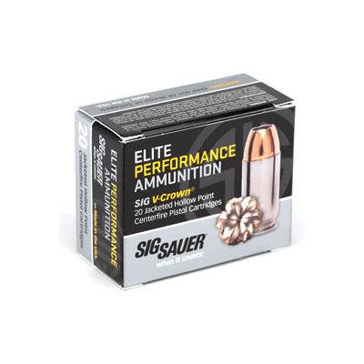 Sig Sauer SIG AMMO 9MM 147GR JHP 20/200 MFG# E9MMA3-20 UPC# 798681501748