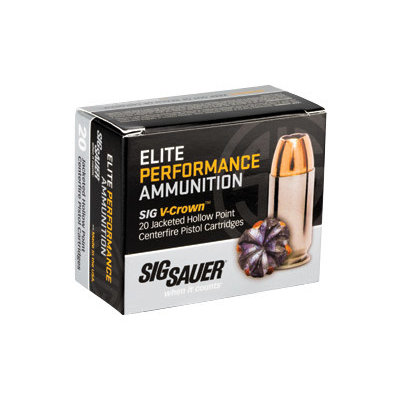 Sig Sauer SIG AMMO 45ACP 185GR JHP 20/200 MFG# E45AP0-20 UPC# 798681501663