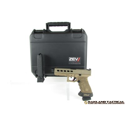 Zev Technologies ZEV Technologies Dragonfly FDE G17 Barrett Brown Cerakote Frame 9x19mm Package with 2x GL-9 P-Mags with Zev +5 Extenders